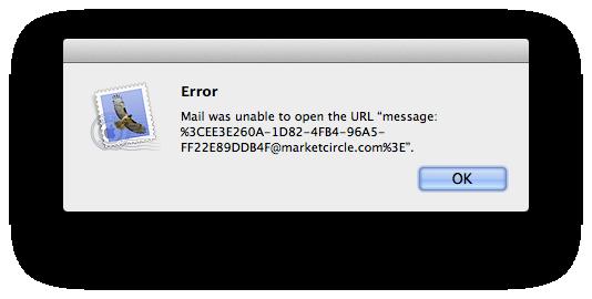 Daylite Mail Error